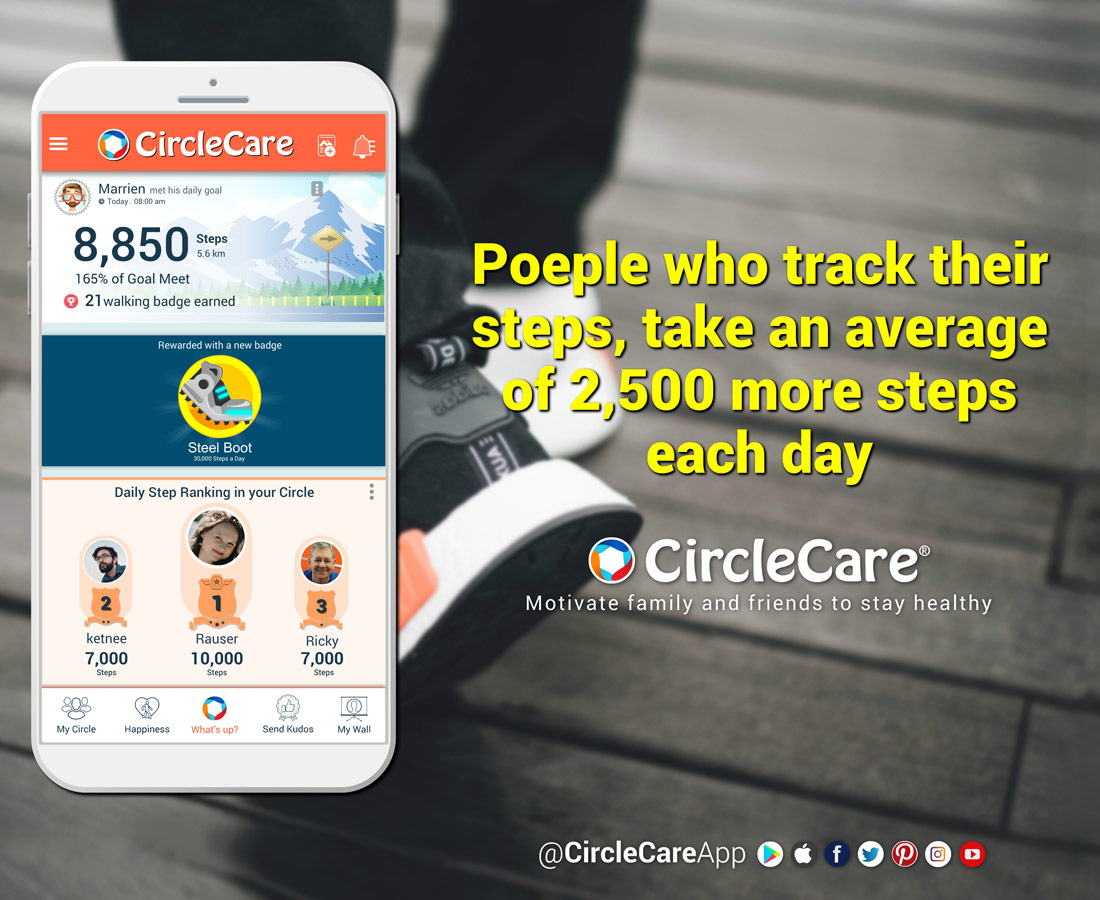 Track-your-steps-with-circlecare-app