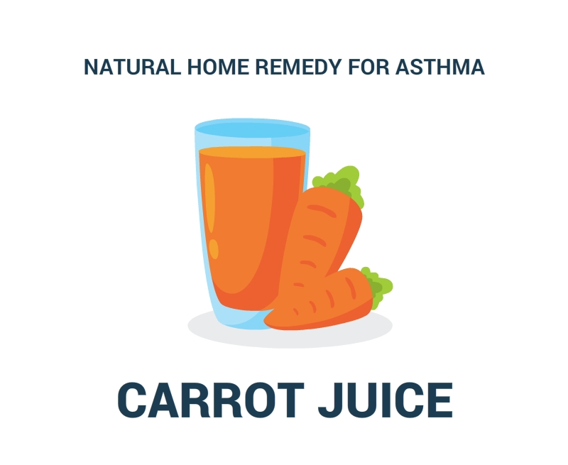 Natural-Home Remedy-For-Asthma-CARROT JUICE