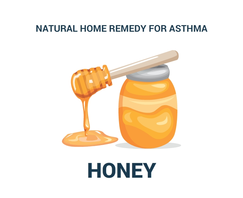 Natural-Home Remedy-For-Asthma-HONEY